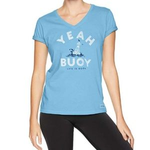 Life is Good Powder Blue XL Yeah Buoy T-shirt